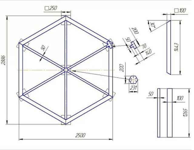 Как сделать шестигранную трубу своими руками 36