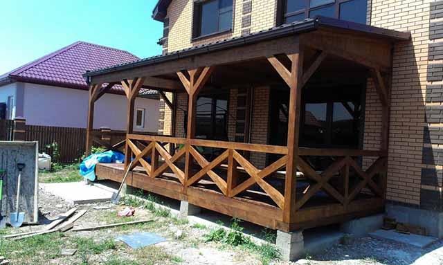Проекты веранд к дому фото своими руками 608