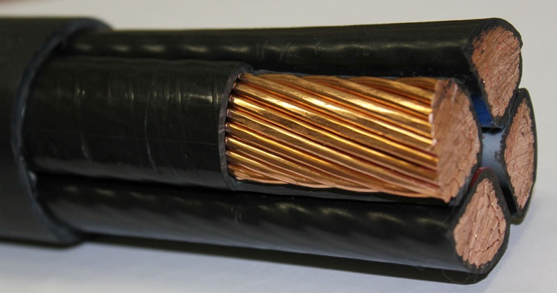 Das Kabel für die Beleuchtung in der Wohnung, wie viele lebten ...