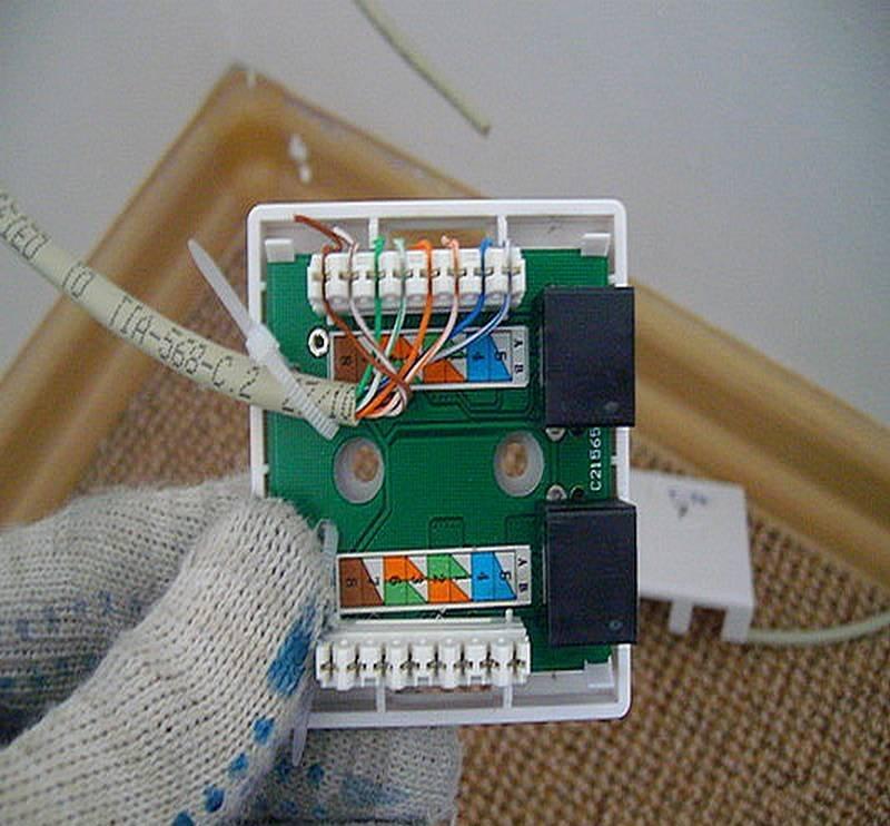 Internet-Steckdose ist intern. So verbinden Sie eine Internet ...
